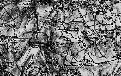 Old map of Wheatcroft in 1896