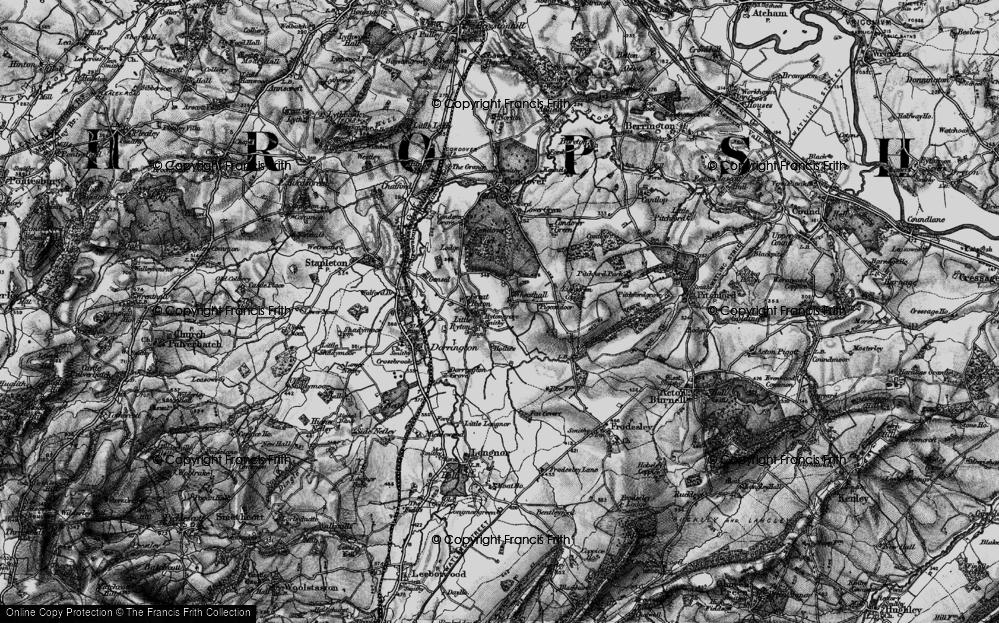 Old Map of Wheathall, 1899 in 1899