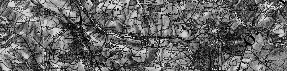 Old map of Wheathampstead in 1896