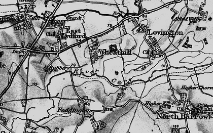 Old map of Wheathill in 1898