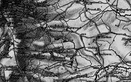 Old map of Wheathill Brook in 1899