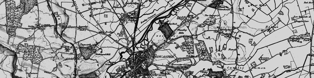 Old map of Wheatley in 1895
