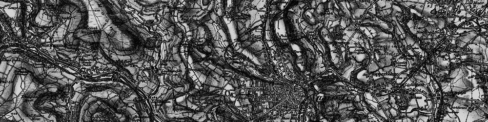 Old map of Wheatley in 1896