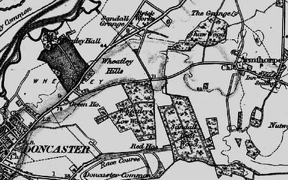 Old map of Wheatley Hills in 1895