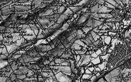 Old map of Wheatley Lane in 1898