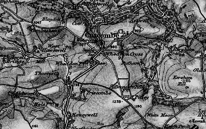 Old map of Wheddon Cross in 1898