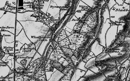 Old map of Wheelbarrow Town in 1895