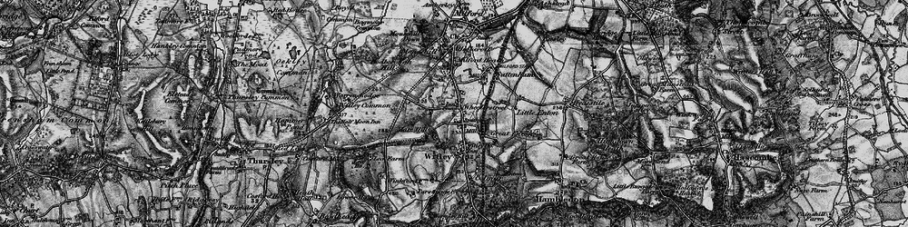 Old map of Wheelerstreet in 1896