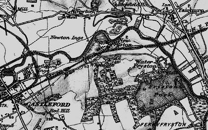 Old map of Wheldale in 1896