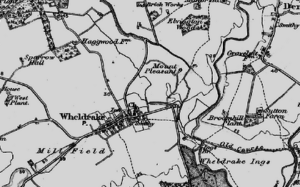 Old map of Wheldrake Grange in 1898