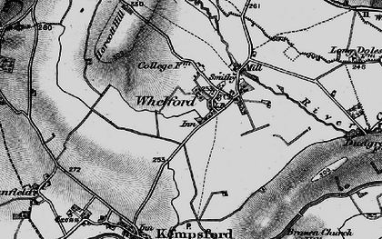 Old map of Whelford in 1896