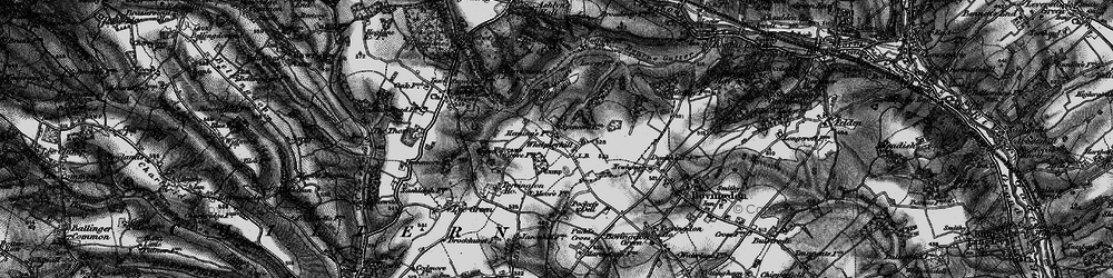 Old map of White Hill in 1896