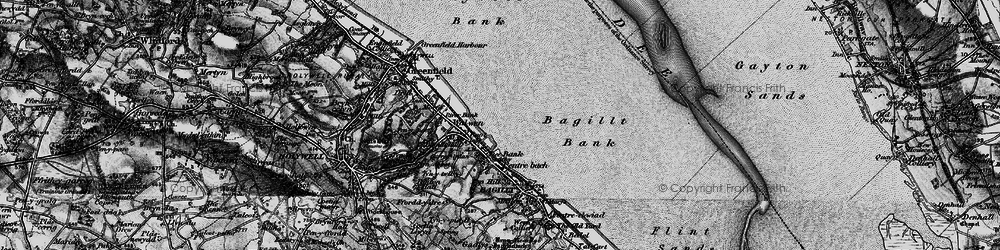 Old map of Whelston in 1896