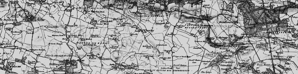 Old map of Whenby in 1898