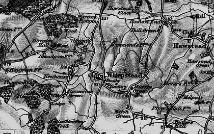 Old map of Whepstead in 1898