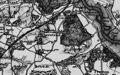 Old map of Wherstead in 1896