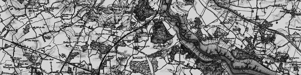 Old map of Wherstead Park in 1896