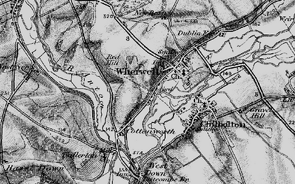 Old map of Wherwell in 1895