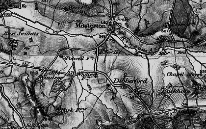 Old map of Baker's Mill in 1898