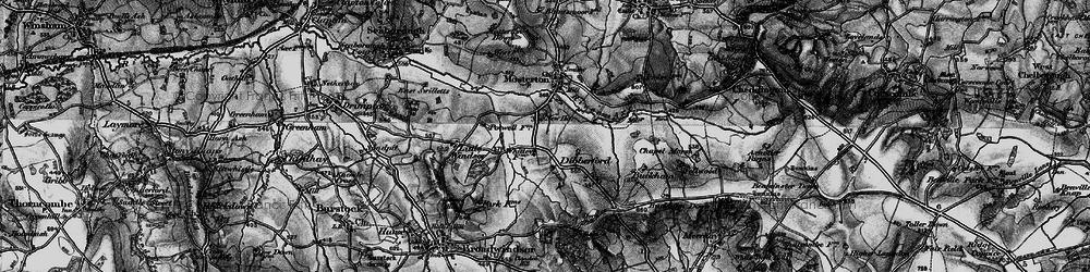 Old map of Whetley Cross in 1898