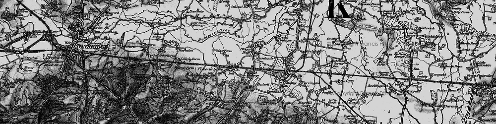 Old map of Whetsted in 1895
