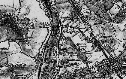 Old map of Whetstone in 1896