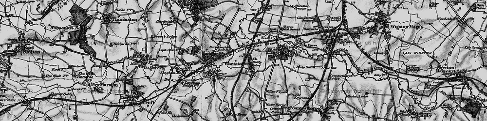 Old map of Whetstone in 1899