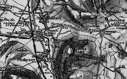Old map of Whettleton in 1899