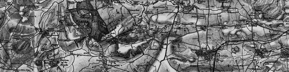 Old map of Whichford in 1896
