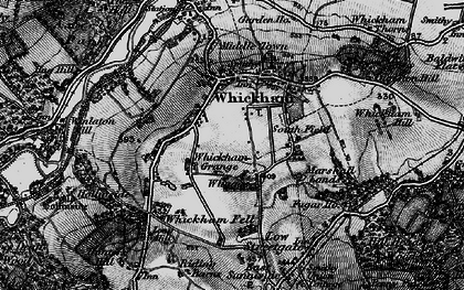 Old map of Whickham in 1898