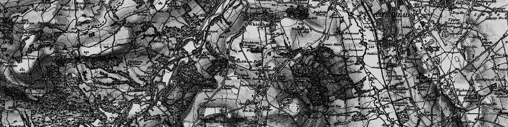 Old map of Whickham Fell in 1898
