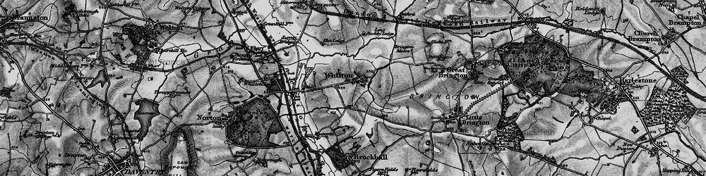 Old map of Whilton in 1898