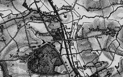 Old map of Whilton Lodge in 1898