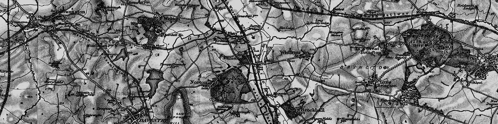 Old map of Whilton Locks in 1898