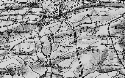 Old map of Whimble in 1895