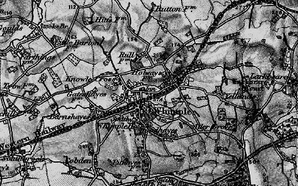 Old map of Whimple in 1898
