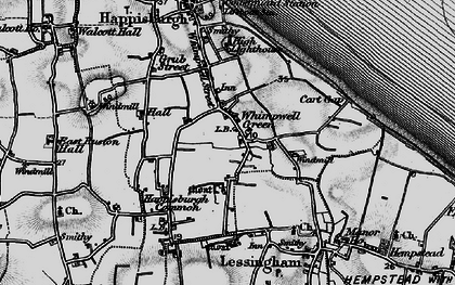 Old map of Whimpwell Green in 1898