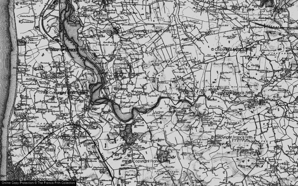 Old Map of Historic Map covering Leylands in 1896