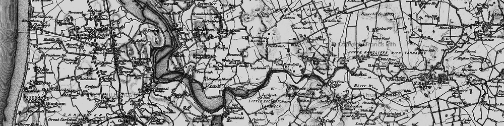 Old map of Whin Lane End in 1896
