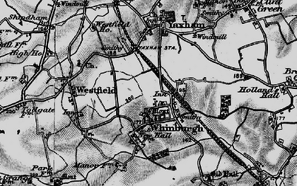 Old map of Whinburgh in 1898