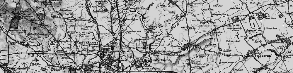 Old map of Whinfield in 1898