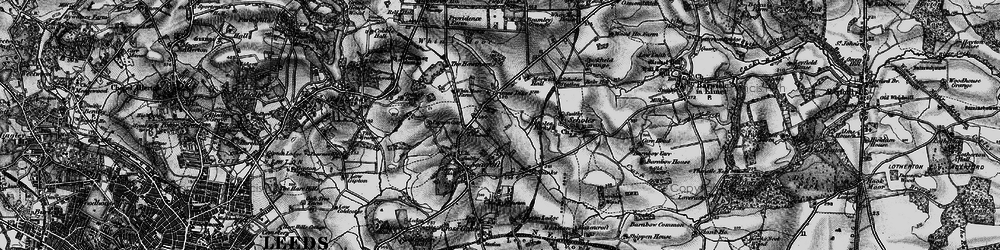Old map of Whinmoor in 1898