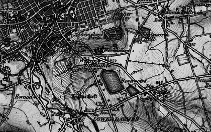 Old map of Whinny Heights in 1896