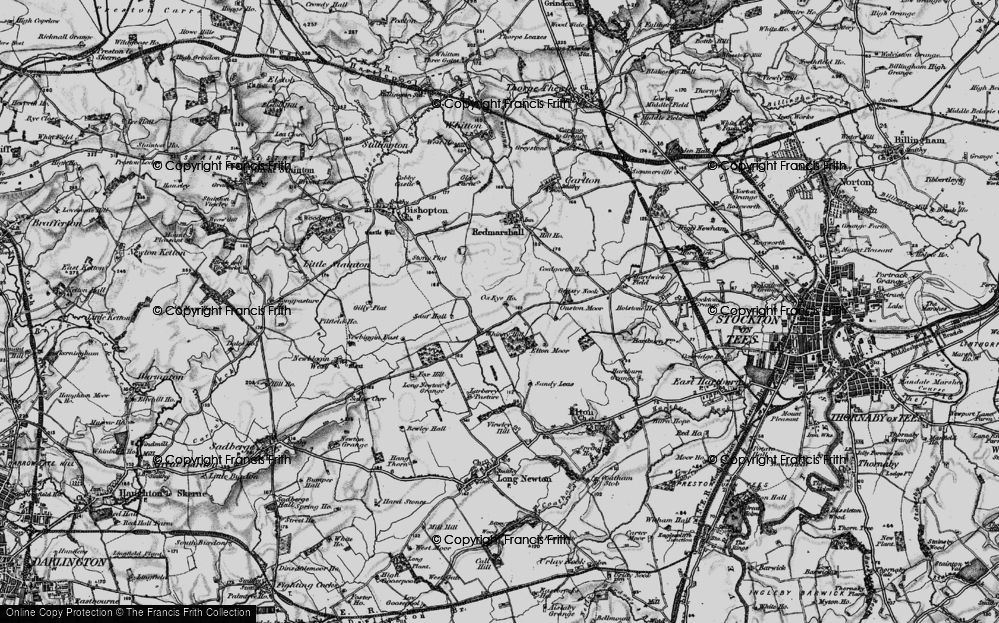 Old Map of Whinny Hill, 1898 in 1898