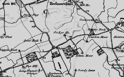 Old map of Whinny Hill in 1898