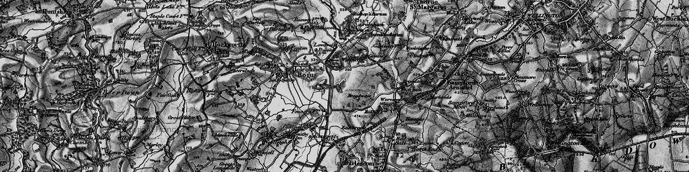 Old map of Whipcott in 1898