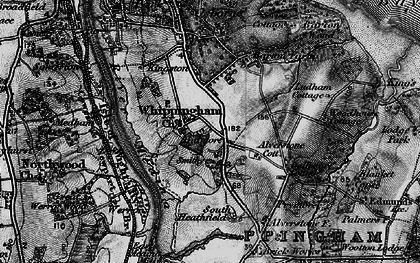 Old map of Osborne House in 1895