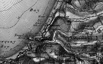 Old map of Whipsiderry in 1895