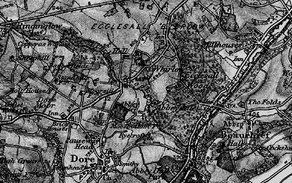 Old map of Whirlow in 1896