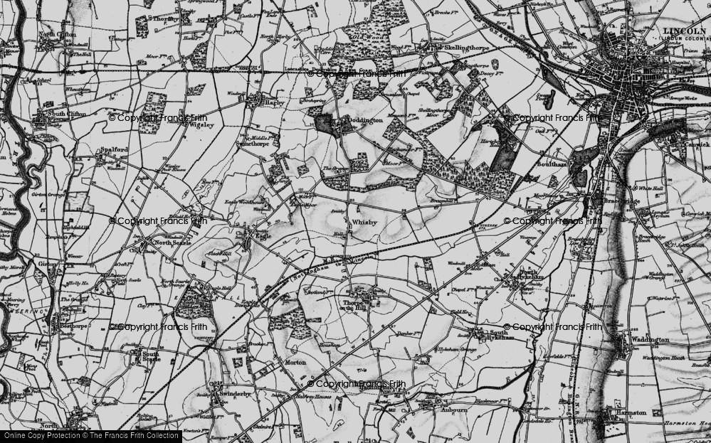 Old Map of Whisby, 1899 in 1899